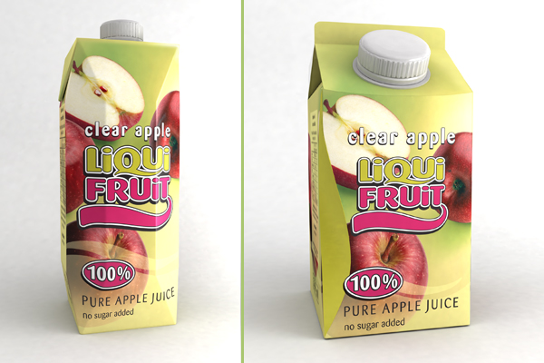 Liqui Fruit 3D packaging